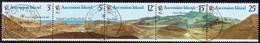 ASCENSION 1978 SG #236-41 Horiz.strip Of 6 + M/s Used 25th Volcanoes - Ascension