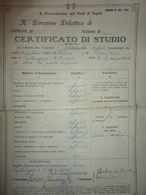 """Documento """"R. Provveditorato Agli Studi Di Napoli Comune Di FRATTAMAGGIORE -  CERTIFICATO DI STUDIO"""" 1938 - Diplomi E Pagelle"""