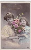 CPA 2 Filles Avec Fleurs, Affectueux Souvenir (pk54284) - Holidays & Celebrations