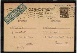COMP2 - TUNISIE EP CP PA ACEP N° 6 CIRCULEE CORRESPONDANCE FAMILIALE - Tunisie (1888-1955)