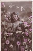 Joyeuse Fête, Lady With Fowers (pk54290) - Holidays & Celebrations