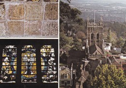 Postcard Malvern Priory Church Multiview My Ref  B23354 - Worcestershire