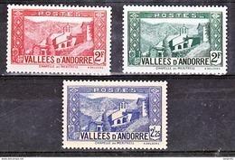 Andorre  81 82 84  La Massana Pont  1/4 De Cote  Neuf ** MNH Sin Charmela Cote 24 - Andorre Français