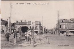 Cp68... Litry Les Mines   La Place Et La Rue De La Gare - France