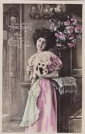 Souhaits Du Coeur, Edit OTO, Lady With Flowers, Fille Avec Fleurs (pk54291) - Holidays & Celebrations