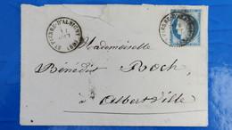 Lettre De St Pierre D' Albigny Cachet A Date Sur N° 60 Pour Albertville - Postmark Collection (Covers)