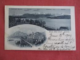 Switzerland > LU Lucerne Grand Hotel  1909 Stamp & Cancel  Ref 3136 - LU Lucerne