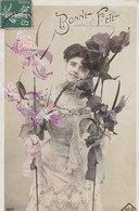 Bonne Fête, Edit JLC Lady With Flowers, Fille Avec Fleurs (pk54292) - Holidays & Celebrations