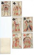 Cartes à Jouer Gravure Sur Bois, Fin XVIII Début XIX 6 Figures Dos Vierge - Jeux De Société
