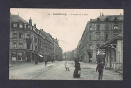 Peu Courante Luxembourg - Avenue De La Gare ( Animée Café De L' Amérique P. C. Schoren Cachet Départ Gare Hollerich ) - Luxembourg - Ville