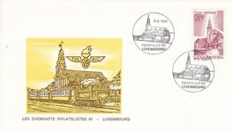Luxembourg Luxemburg Env Les Cheminots Philatélistes Ferphilex '80 07-09-1980 - Trains