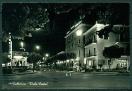 CARTOLINA - RIMINI - CV1603 CATTOLICA (Rimini RN) Viale Curiel, FG, Viaggiata 1955, Ottime Condizioni - Rimini