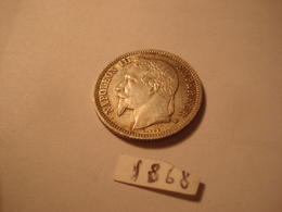 1 FRANC NAPOLEON 3 1868 BB STRASBOURG SUP ARGENT - H. 1 Franc