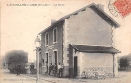 ¤¤  -  L'AIGUILLON-sur-MER   -  La Gare  -  Train , Chemin De Fer   -  ¤¤ - France