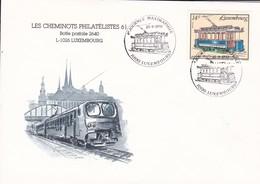 Luxembourg Luxemburg Env Les Cheminots Philatélistes 4e Journée Naximaphile 25-09-93 - Trains