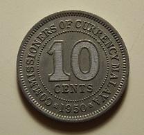 Malaya 10 Cents 1950 - Malaysia