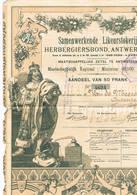 Samenwerkende Likeurstokerij Herbergiersbond Antwerpen Cp 9 Att - Actions & Titres