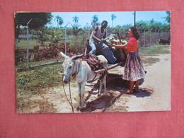Coconut Wagon   Jamaica  Overprinted Stamp Has Stamp & Cancel  Ref 3136 - Jamaica