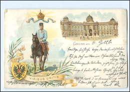 U4067/ Kaiser Franz Josef  50. Regierungs-Jubiläum Litho AK 1898 - Königshäuser