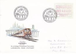 Luxembourg Luxemburg Env 20 Ann Du Jumelage Phil Ferroviaire 23-09-1995 - Trains