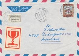 Schweiz - 1966 - 20 Cent Pro Patria On Cover From Basel - Firma Erloschen - Zwitserland