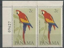 Panama - 1965 Scarlet Macaw Corner Pair MNH **       Sc 462A - Panama