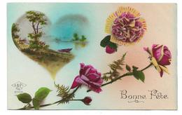 CPA BONNE FETE / ROSES ET COEUR - Holidays & Celebrations