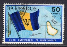 BARBADOS - 1971 50c INDEPENDENCE ANNIVERSARY STAMP GOOD USED SG 439 - Barbados (1966-...)