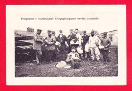 Guerre-14-18-(348)Ph64  Les Colis Des Prisonniers Français Sont Examinés, Cpa BE - Guerre 1914-18