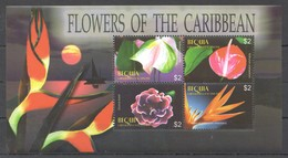 E175 BEQUIA FLORA NATURE FLOWERS OF THE CARIBBEAN 1KB MNH - Plants