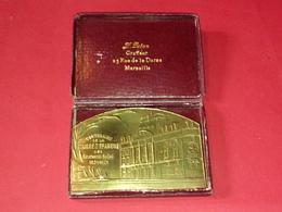 RARE MÉDAILLE CENTENAIRE DE LA CAISSE D'ÉPARGNE DES BOUCHES DU RHONE Marseille 1821/1921 Par PARAN 82mm X 56 Mm 125 Gr - Professionnels / De Société