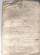 Acte Notarial Notaire Cachet Généralité Poitiers Trois Sols Maisonneuve Ste Hermine 4 P. 1759 - Cachets Généralité