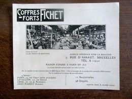 Oude  Reklame  Coffres- Forts  FICHET - Autres Collections