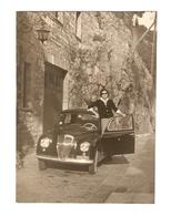 FO--00060-- FOTO ORIGINALE -CAR-AUTO-LANCIA APPIA 1 SERIE CON SIGNORA- TARGATA ROMA - Automobili