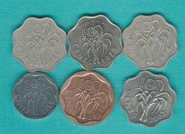 Swaziland - 10 Cents - 1974 (KM10) 1975 - FAO (KM23) 1986 (KM41) 2002 (KM49) 2011 (KM57) & 2015 - Swaziland