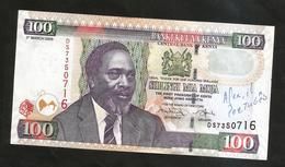 KENYA - CENTRAL BANK Of KENYA - 100 SHILLINGS / Kenyatta - Kenia