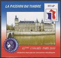 Bloc FFAP N°4 De 2010 Neuf (83ème Congrès Paris 2010 - FFAP