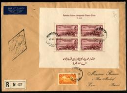 LIBAN - 1ère Liaison Aéropostale FRANCE-LIBAN/X° Année 19/7/38 - Grande Enveloppe Avec C.S - TB - Liban