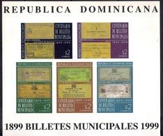 Dominican Republic 1999 - Sheet The 100th Anniversary Of Banknotes Mint - República Dominicana