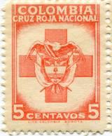 Lote CR9, Colombia, 1949, Sello, Stamp, Cruz Roja, Red Cross, Escudo, Lito Nacional - Colombia