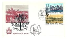 1980 - San Marino 1056/57 Vedute Di Londra - FDC - Holidays & Tourism