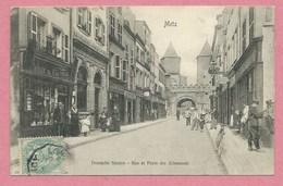 57 - METZ - Deutsche Strasse - Rue Et Porte Des Allemands - Tabak - Tabac - Metz