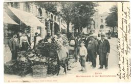 WOCHENMARKT Bahnhofstrasse Zürich Mit Viel Leben 1903 - ZH Zurich