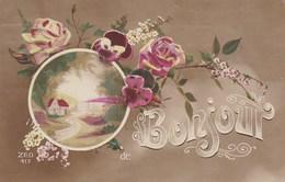 CPA, Bonjour De ...  Fleurs, Petite Maison, Edit ZED (pk54307) - Holidays & Celebrations