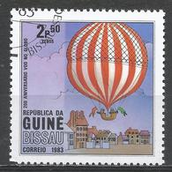 Guinea-Bissau 1983. Scott #443 (U) Manned Flight (Hot Air Balloon) Bicentenary * - Guinée-Bissau