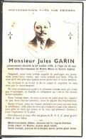 Souvenir Jules Augustin Abraham Garin Décédé Le 20 Juillet 1936 à Beaumetz Les Loges. - Religione & Esoterismo