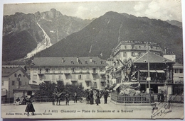 PLACE DE SAUSSURE ET LE BRÉVENT - CHAMONIX - Chamonix-Mont-Blanc