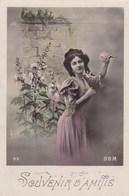 CPA, Souvenir D'Amitié, Lady With Flowers, Edit BBM (pk54309) - Holidays & Celebrations
