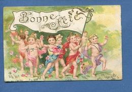 BONNE FETE Jolie CPA Défilé Bébés Nus étendard Rubans  J C Paris 1607 - Holidays & Celebrations
