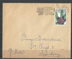 Belgique: 1317 Sur Lettre Pour Le Luxembourg Avec Oblitération Floralies Gantoises - Cactusses